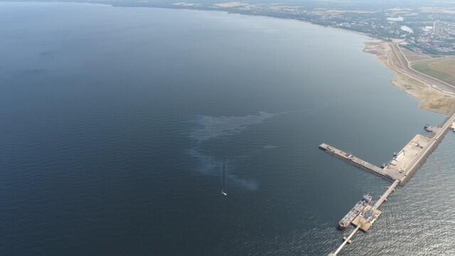 Pollution in Sillamäe Port.