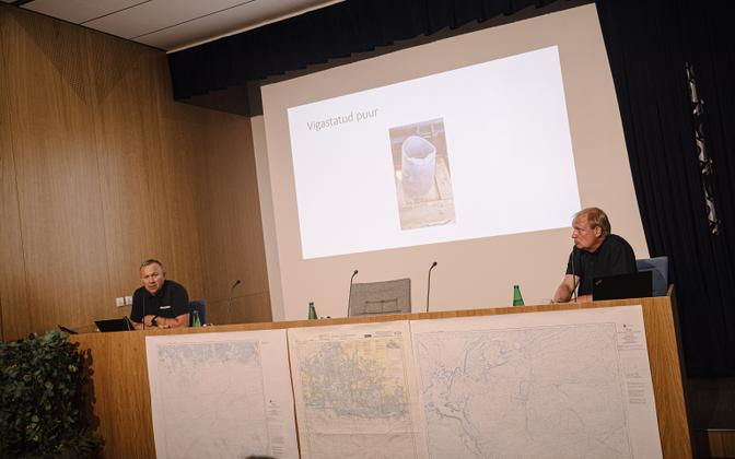 Rene Arikas (left) and Sten Suuroja at Tuesday's press conference.