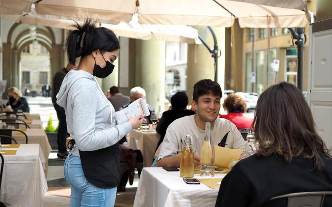 Itaalias saab pääsevad alates 6. augustist restorani ainult vaktsineeritud inimesed.