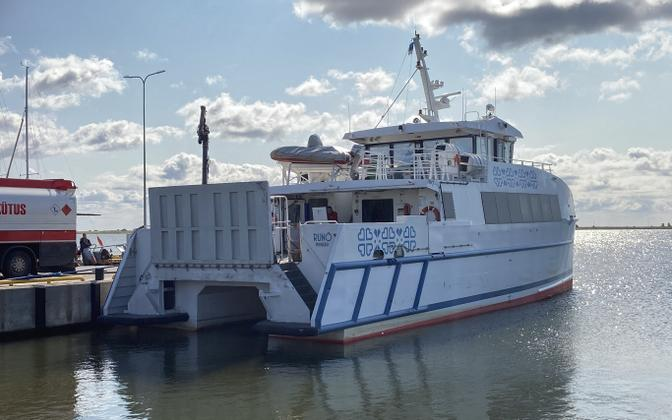 Ruhnu laev Runö