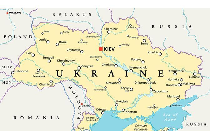 Ukraina poliitiline kaart