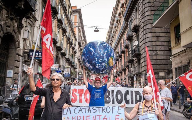 Протест против G-20 в Неаполе.