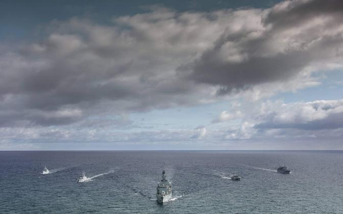 Vessels from some of the eight JEF member states on exercise this year.