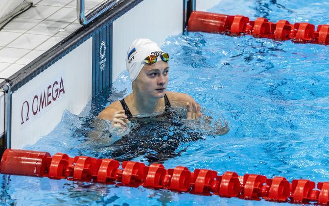 Eneli Jefimova at the Tokyo Olympics.