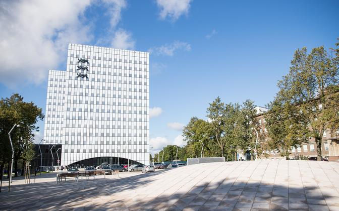The 'super-ministry' building in Tallinn, home of the justice ministry and several others.