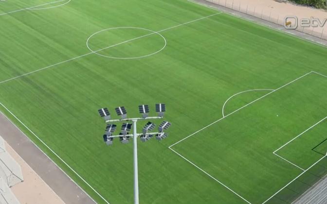 Тренировки на новом поле в Пярну начнутся осенью.