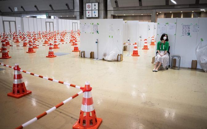 Koroonaviiruse testimisala Tokyo olümpiamängude meediakeskuses