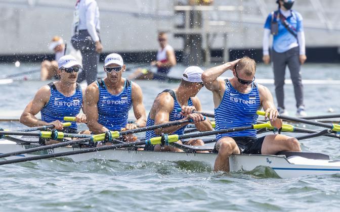 Eesti paarisaeruline neljapaat Tokyo olümpia medalisõidus