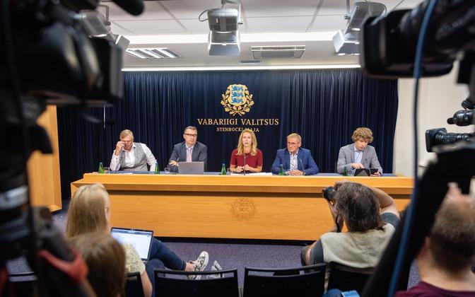 Пресс-конференция правительства.
