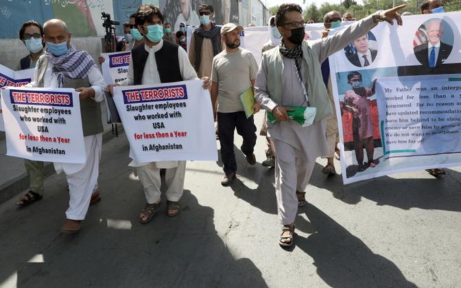 USA vägede heaks töötanud Afganistani endised tõlgid Kabulis protestimas.