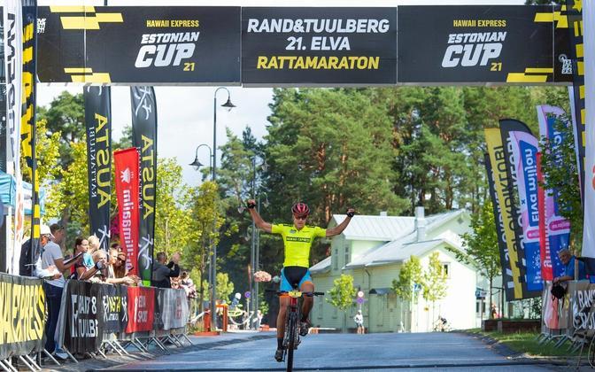 Gert Jõeäär 21.Elva rattamaratoni finišis