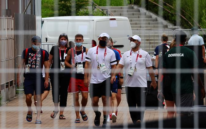 Sportlased ja taustajõud Tokyo olümpiakülas