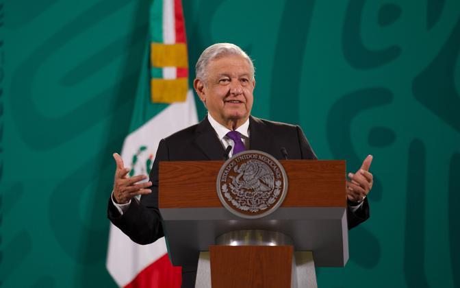 Mehhiko president Andres Manuel Lopez Obrador,