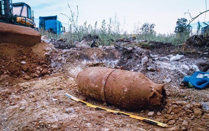 В Раквере обезвредили авиабомбу весом 100 кг.