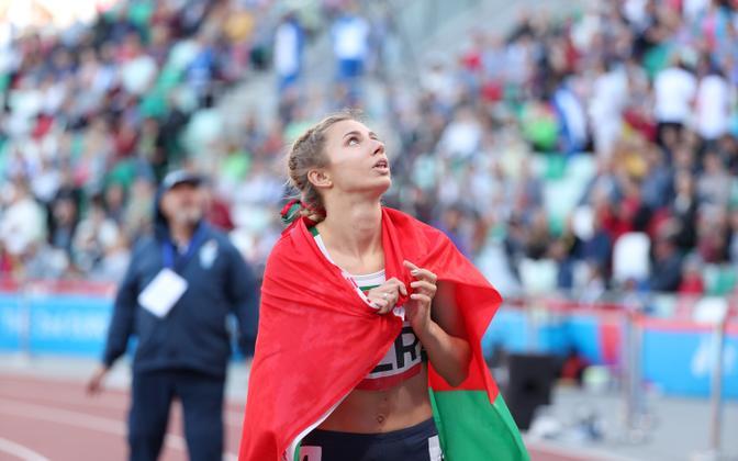 Kristsina Tsimanovskaja 2019. aastal