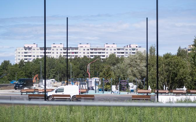 Tondiraba park under construction at the start of August, 2021,