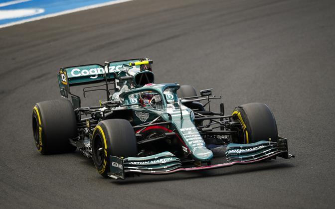 Sebastian Vettel vormel-1 MM-sarja Ungari GP-l.