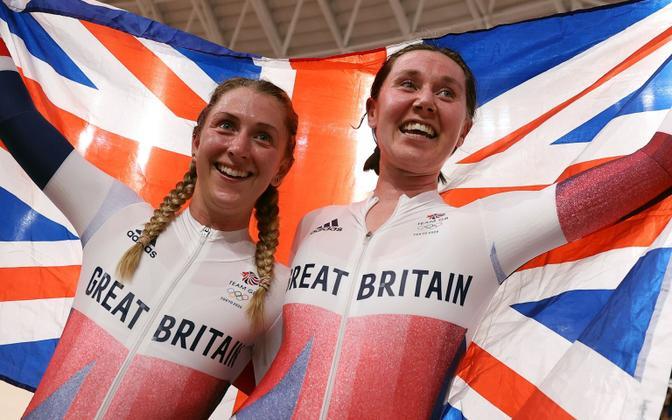 Laura Kenny (vasakul) ja Katie Archibald.