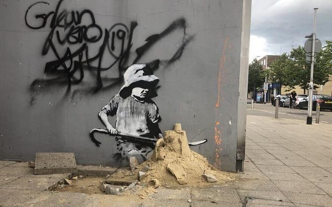 Kunstiteos Lowestoftis, mida arvatakse olevat Banksy tehtud