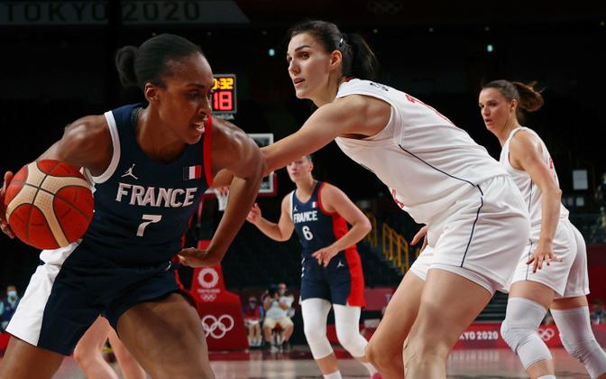 Naiste korvpalli pronksimäng Prantsusmaa ja Serbia vahel