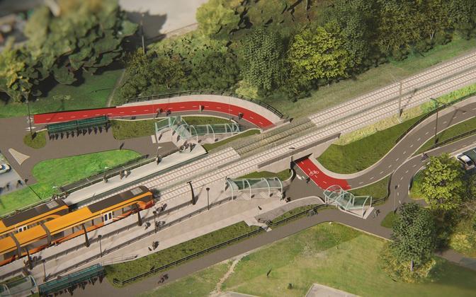 Проект реконструкции станции Лаагри.