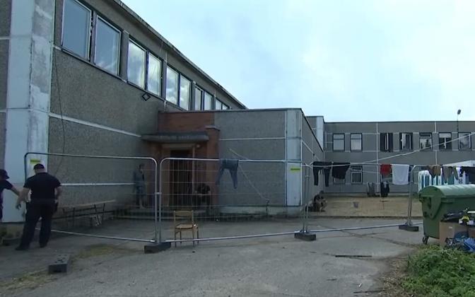 Лагерь мигрантов в Литве.