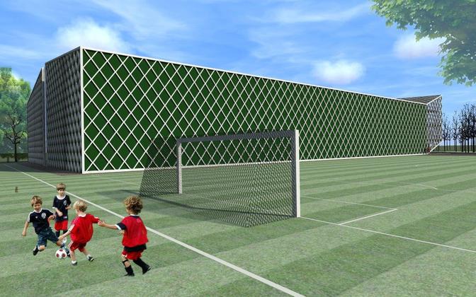 Эскиз футбольного холла ФК Levadia на Маарьямяги.