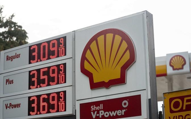 Autokütuse hinnad USA-s Virginias 11. augustil.