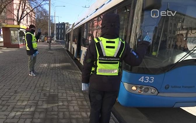 Mupo at work inspecting public transport passenger compliance with face-mask requirement, earlier this year.