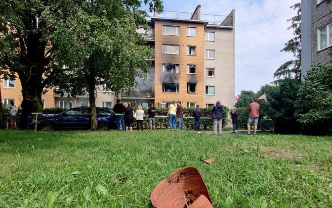 Взрыв бытового газа в жилом доме в Тарту.