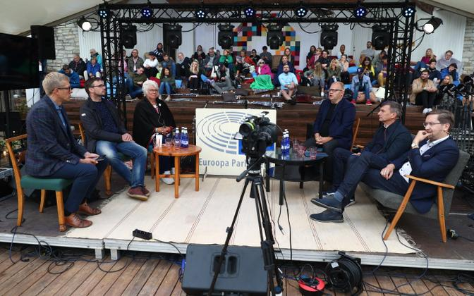 MEPs debate at the Opinion Festival in Paide.