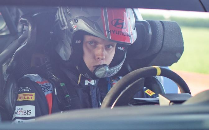 Ott Tänak in the Hyundai i20.