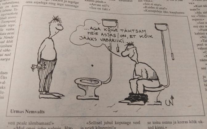 Postimehe karikatuur 16. augustil 1991.