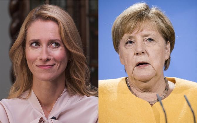 Kaja Kallas ja Angela Merkel.