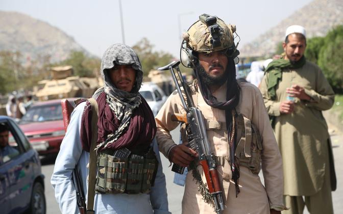 Talibani võitlejad Kabulis