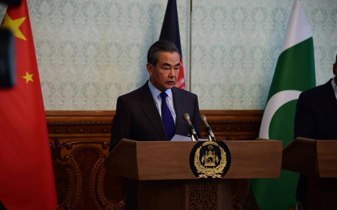 Hiina välisminister Wang Yi Kabulis