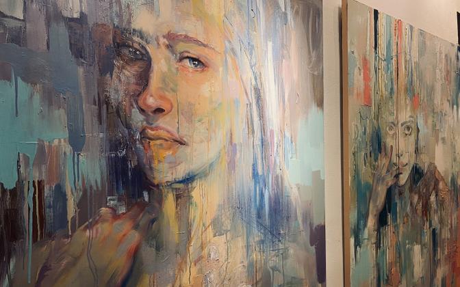 Marita Liivaku tööd Telliskivi loomelinnaku galeriis.
