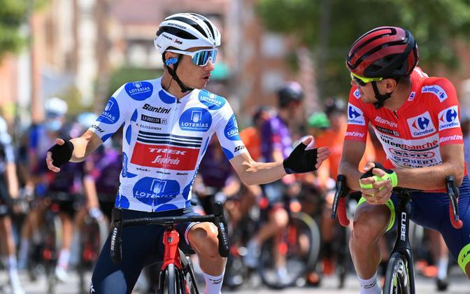 Kenny Elissonde ja Rein Taaramäe Hispaania velotuuri viienda etapi alguses