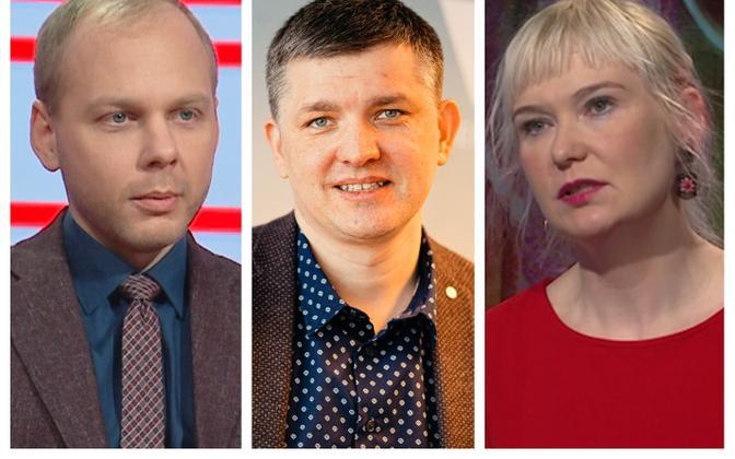 Урмас Яагант, Мирко Оякиви и Эвелин Калдоя.