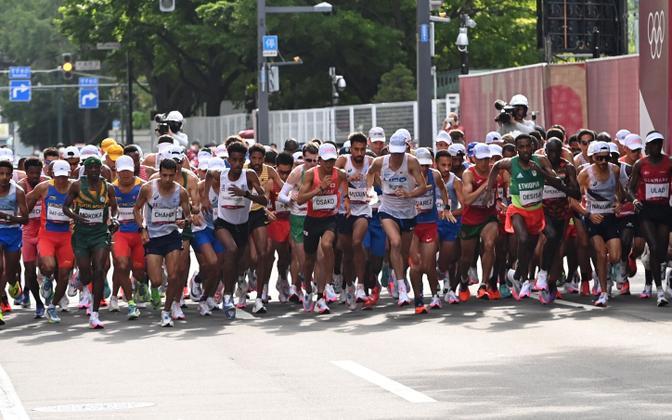 Meeste maraton Tokyo olümpiamängudel