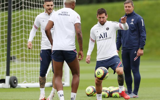 Lionel Messi PSG treeningul.