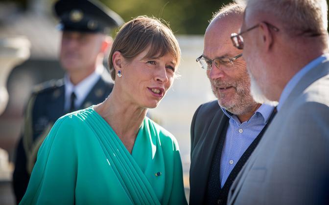 Kersti Kaljulaid, Alar Karis and Tarmo Soomere.