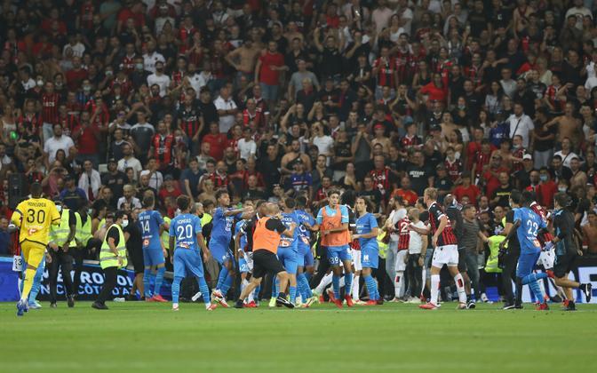 Nice'i ja Marseille' vaheline mäng kujunes tuliseks
