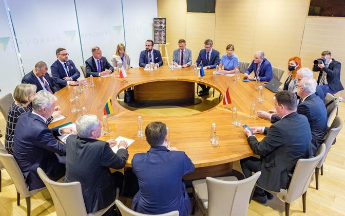 Meeting of the presidents of Estonia, Latvia, Lithuania and Poland in Kyiv, Ukraine, on Monday, August 23.