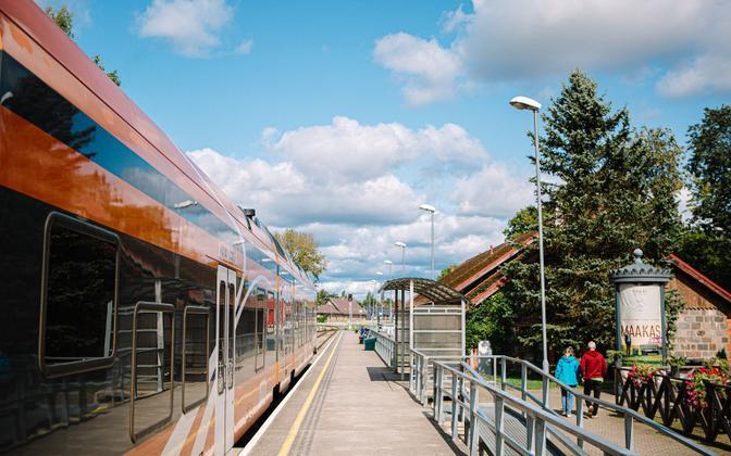 Железнодорожный вокзал в Вильянди.