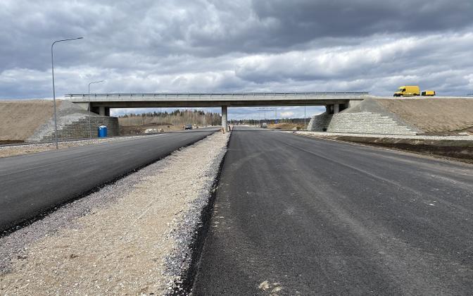 Maantee ehitustööd mullu Tallinna-Tartu maanteel.