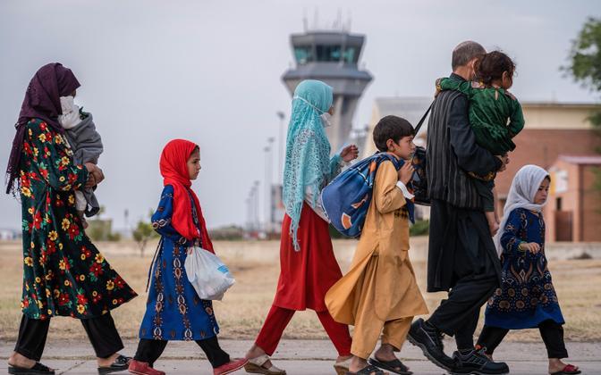 Афганские беженцы.