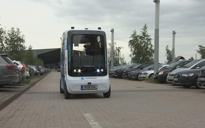 The driver-less bus being trialed in Tartu.