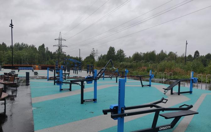 Тренажеры в парке Тондираба.