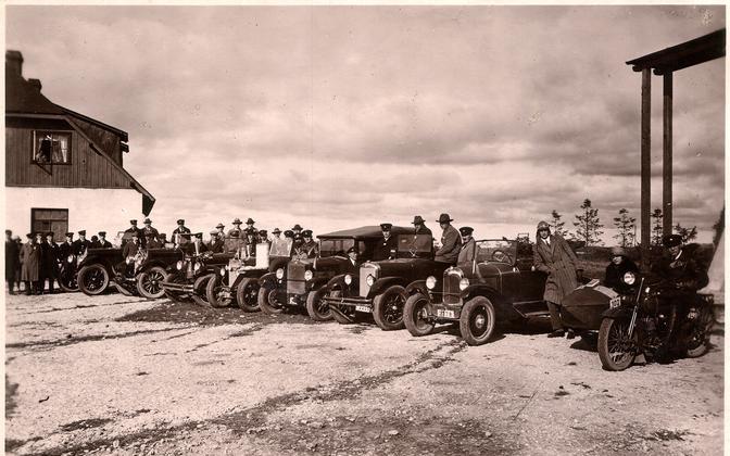 1926. aasta pikamaasõidu start Lasnamäel.